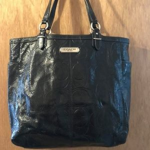 Authentic Black Patent Coach Poppy